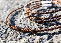 Barna selyem ezüsttel... Brown silk with silver