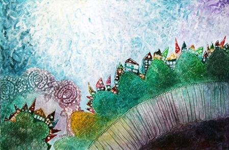 Among hills – 120x80 cm