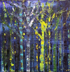 Blue forest – 58x58 cm