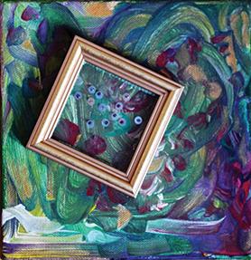 Kinga's garden – 24x24 cm – private collection