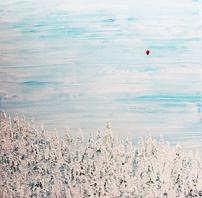 Red balloon – 60x60 cm